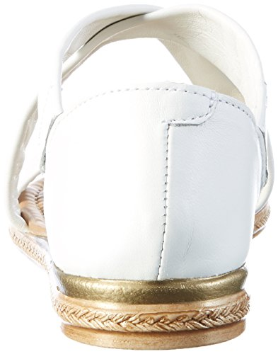 Marco Tozzi Premio 28154, Sandales Bout Ouvert Femme Blanc (White 100)