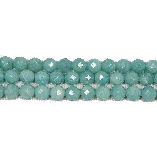 Charming beads filo 90+ turchese amazzonite 4mm tondo sfaccettato perline gs4778-1
