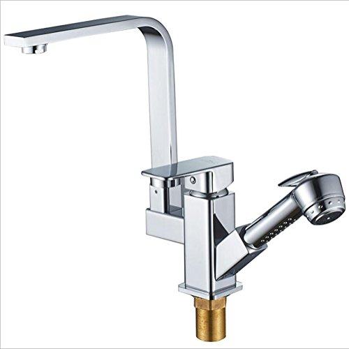 Dual Griff Küche Spüle Wasserhahn Einhebelmischer hohe Druck mit Ziehen -
