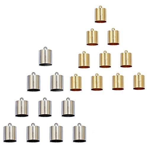 Baoblaze 20 Stücke Silber Gold Karabinerverschluss aus Edelstahl Schmuck Herstellung Zubehör