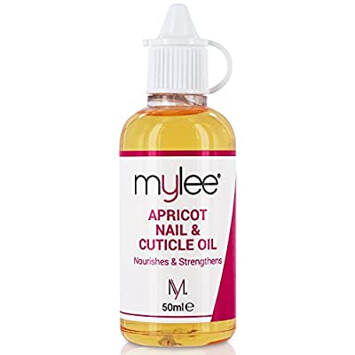 Mylee Apricot Nail & Cuticle Oil 50ml, – Deeply Hydrating & Nourishing Cuticle Conditioner Oil, Non-Greasy Formula and Leaves No Sticky Residue, Lightly Scented With Apricot, Contains Vitamin E & A To Replenish and Repair Damaged Cuticles
