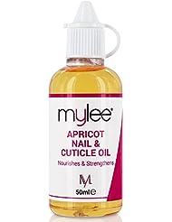 Mylee Aprikosenöl für Nägel und Nagelhaut 50ml, Tiefenfeuchtigkeitsspendendes und pflegendes Nagelhautöl, leicht nach Aprikose riechend, enthält Vitamin E & A zur Pflege geschädigter Nagelhaut
