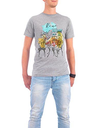 """Design T-Shirt Männer Continental Cotton """"Rom Illustration"""" - stylisches Shirt Städte Städte / Rom Reise Architektur von Tatiana Davidova Grau"""