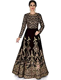 f8f6138f24 Shree Impex Embroidered Heavy Silk Semi Stitched Anarkali Gown (Freesize)
