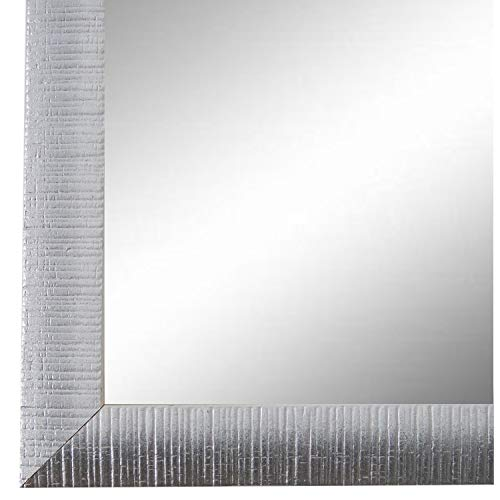 Online Galerie Bingold Spiegel Wandspiegel Weiß Silber 50 x 60 cm - Modern, Vintage, Shabby - Alle Größen - Made in Germany - AM - Sorrento - Sorrento Fall
