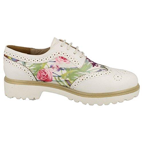 Mesdames Spot On Chaussures richelieu à lacets Blanc