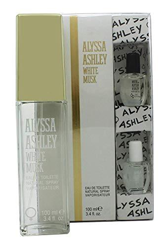 Alyssa Ashley White Musk Eau de toilette en spray Plus à l'huile de Musc, 100 ml/5 ml