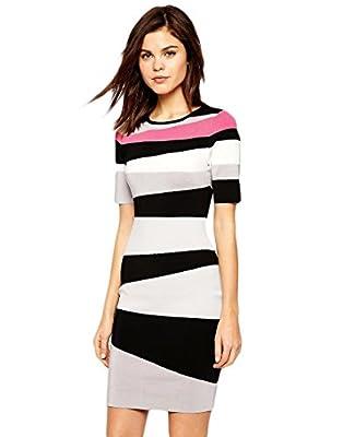 Karen Millen Stripe Bandage Knit Dress - KT248