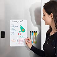 GJT Magnetic Fridge Dry Erase Whiteboard,Family Message Board Office Memo NEW A4 Rounded Corners