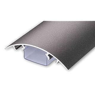 TV Design Aluminium Kabelkanal Roheisen Style Feinstruktur lackiert in verschiedenen Längen von ALUNOVO (Länge: 30cm)
