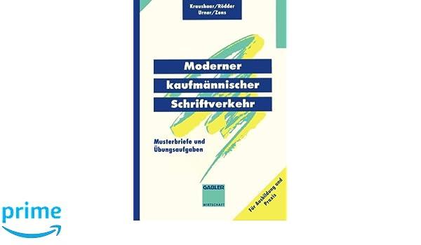 Moderner Kaufmännischer Schriftverkehr Musterbriefe Mit