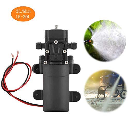 Wasserpumpe,Jectse 12V 2A 15-20L geräuscharm und langlebig Hochdruck-Wasserpumpe Membranpumpe für Landwirtschaft, Tierhaltung, Aquakultur, Fischerei, Forstwirtschaft