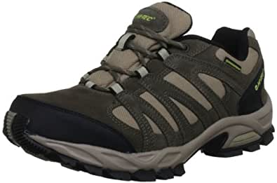 Hi-Tec Alto Low Waterproof, Men's Hiking Boots, Smokey Brown/Light Taupe/Chartreuse, 7 UK