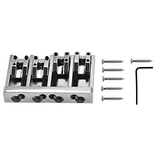 Dilwe Chevalet de Guitare Electrique de 4 Cordes, 84mm cordier de Basse électrique pièce de Rechange pour Guitare électrique