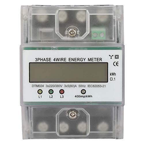 220 / 380V 5-80A Energieverbrauch Digitaler Stromzähler 3 Phasen 4P KWh-Zähler mit digitalen LCD-Produkten Werden Häufig in Leistungsmesssystemen Eingesetzt.