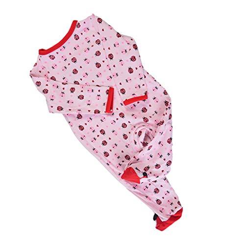 Fenteer Weiche Babypuppe Kleidung Set mit verschiedenen Muster für Junge oder Mädchen Puppe - sieben Marienkäfer, 22-23 Zoll