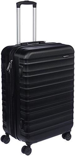 AmazonBasics Valise rigide à roulettes pivotantes, 68 cm, Noir