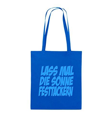 DIE Blau Bags SONNE LASS Schwarz lange Pink Jutebeutel Royalblau Comedy 38x42cm MAL Henkel FESTTACKERN Farbe 6SBtwqd
