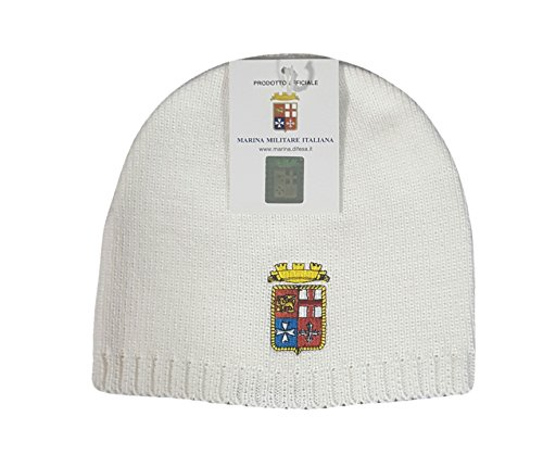 Cappellino cappello berretto MARINA MILITARE ITALIANA BIANCO A originale cuffia