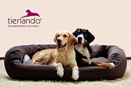 tierlando® A1-01 ARES Extra ROBUST Hundesofa Hundebett Gr.XL110cm Braun - 2