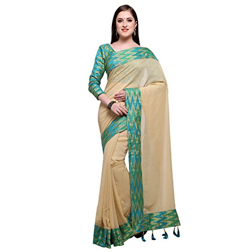 Womanista Synthetic Saree with Blouse ...