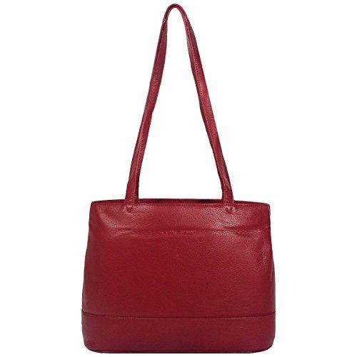 Greenburry basiX sac shopper sac à main en cuir 434 - Rouge