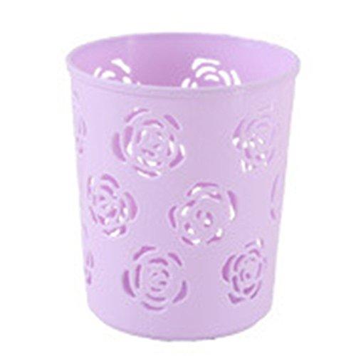 Vi.yo portapenne design a forma di fiore rosa matita in plastica portabicchieri per casa/ufficio / scuola-viola