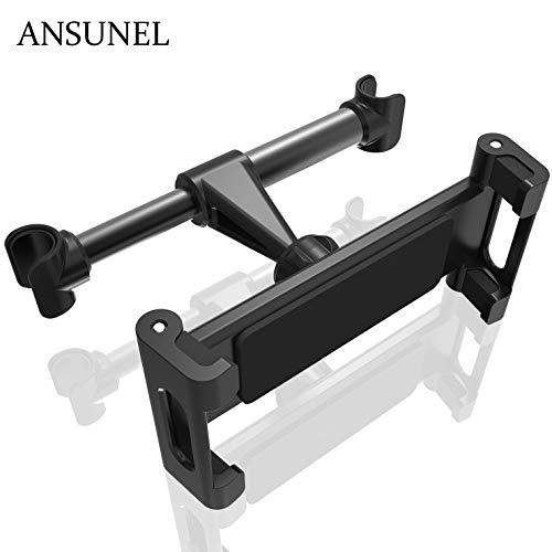 Auto Kopfstütze Halterung, ANSUNEL Universal Tablet Halterung Auto, Passend für iPhone6 7 8 iPad 2 3 4 5 6 Air Mini Halterung - Schwarz