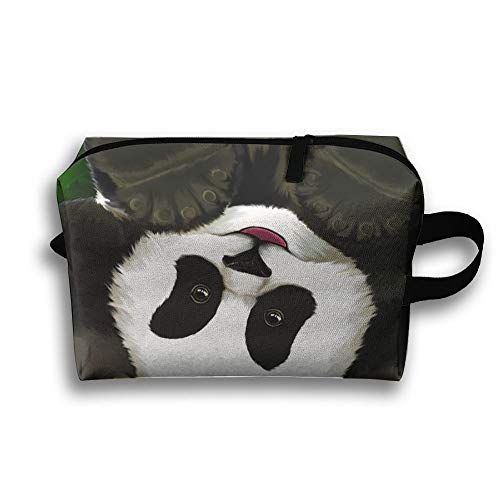 Adorable Panda Fashion Funny Canvas Makeup Bag Large Cosmetic Bag Carry Case