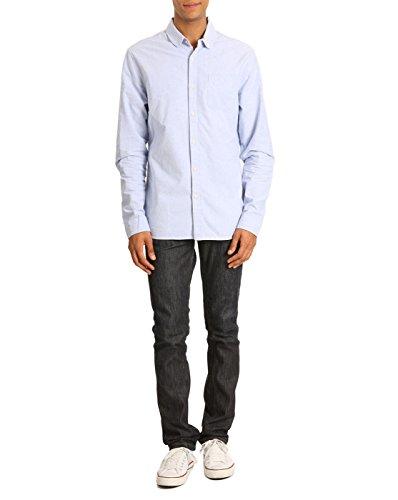 Scotch & Soda Homme Penny Collar Pocket Dandy Shirt, Bleu Bleu