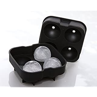 Ice Ball Mold Sphere Silicone Ice Rounds Maker 4x4.5cm,Perfect for Japanese Whiskey, Cocktail and Any Drink
