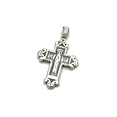 Pendentif en argent massif 925 croix orthodoxe PE001205 Empress