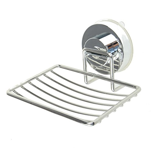 Vacuum Suction Cup Soap Dish Holder, Sicai Rustproof Soap Holder Stainless Steel Strong Wall Mounted Sucker Suction Bathroom Kitchen Soap Basketball Holder Hanger