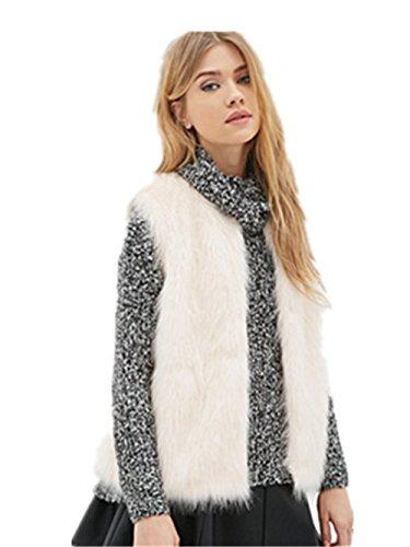 Donna Scialli pelliccia sintetica Stole Inverno Collo Più Caldo Sciarpa Collo di pelliccia
