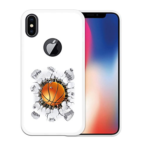 iPhone X Hülle, WoowCase Handyhülle Silikon für [ iPhone X ] Schwarzer Basketballspieler Handytasche Handy Cover Case Schutzhülle Flexible TPU - Schwarz Housse Gel iPhone X Transparent D0051
