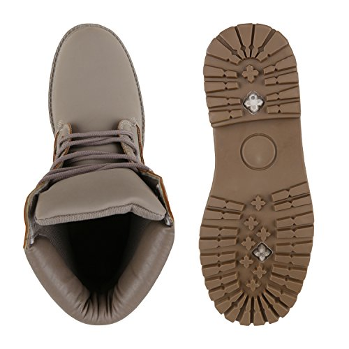 UNISEX Damen Herren Warm Gefütterte Damen Worker Boots Stiefeletten Outdoor Stone