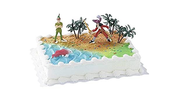 Surprising Cake Company High Quality Cake Figure Peter Pan And Captain Personalised Birthday Cards Arneslily Jamesorg