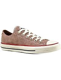 Converse Schuhe Chucks CT All Star Ox 122010 Gingham Tex Rot Weiss Kariert c217fedc16