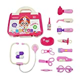 Doctors Set, Toy Doctor Kit 15 pièces semblant & jouer Kit médecin avec stéthoscope électronique pour les filles et les garçons cadeaux de Noël classe école de Pâques...