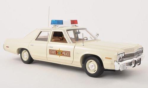 Preisvergleich Produktbild Dodge Monaco, Illinois State Police, weiss , 1974, Modellauto, Fertigmodell, ERTL American Muscle 1:18