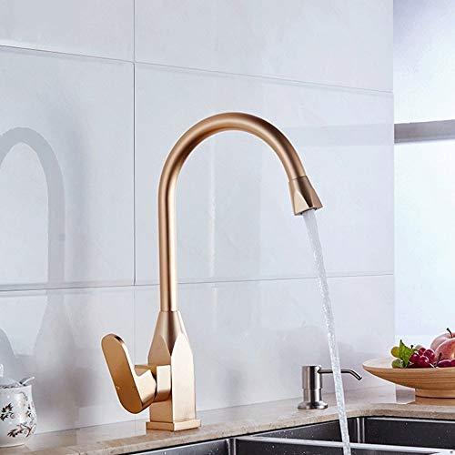 Gold Weiß Küchenarmatur, Space Aluminium Gold Einhand-Warmwasserbehälter Waschbecken Waschtischmischer, Badezimmer Waschtisch/Waschtischarmaturen Deck Installation