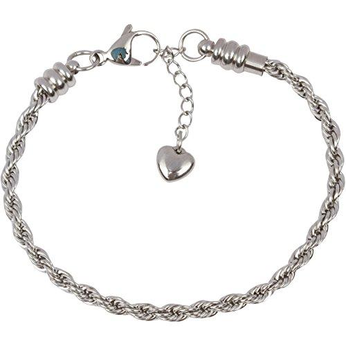 TimeLine Treasures-Bracciale per Donna, Acciaio Inossidabile corda