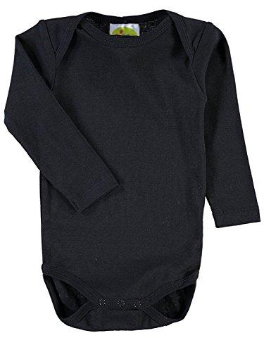 Max und Mia DIMO TEX Baby Langarm Body einfarbig schwarz (74/80)