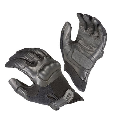 Hatch Reactor Hard Knuckle Handschuhe, groß, Schwarz (Hard Schwarz Handschuhe Knuckle)