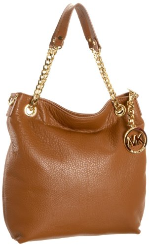 Michael Michael Kors Jet Set Medium Tote (MICHAEL Michael Kors Jet Set Medium Chain Shoulder Tote Handbags - Brown)