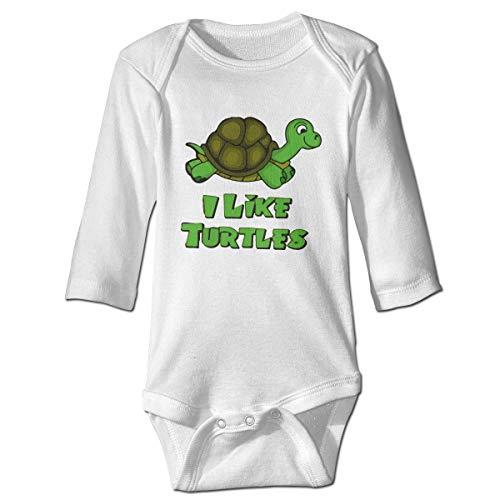 WBinHua Bodys et Combinaisons, I Like Turtles Zombie Baby Unisex Long Sleeve Onesies Bodysuits