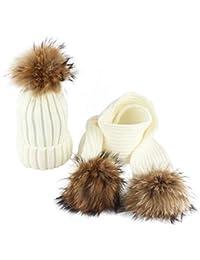 Amazon.fr   Blanc - Packs bonnet, écharpe et gants   Accessoires ... 0b0bacf8850