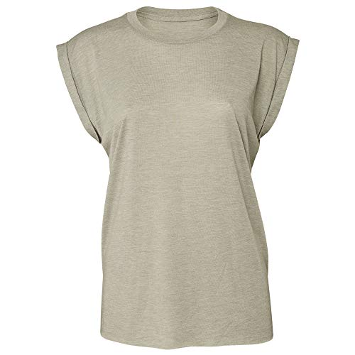 Bella+Canvas Damen Modern T-Shirt Gr. Large, Heather Stone - Bella Damen Heather