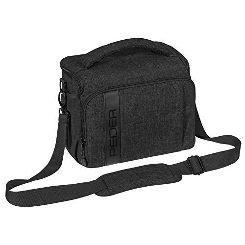 """PEDEA DSLR-Kameratasche \""""Fashion\"""" Fototasche für Spiegelreflexkameras mit wasserdichtem Regenschutz, Tragegurt und Zubehörfächern, Gr. XL schwarz"""