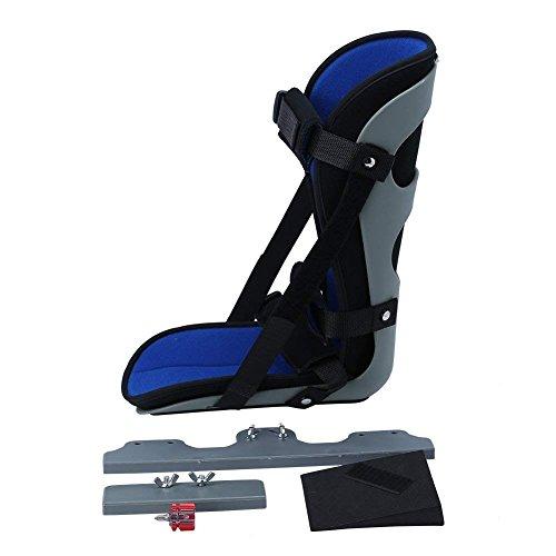 Knöchel Fuß Orthese, Fuß Drop Schiene Knöchelstütze für Plantar Fasciitis Fersenschmerzen, Airbag Achillessehne nach Operation Knöchel Fraktur Behandlung Fix Support Tool (S/M/L)(L) -